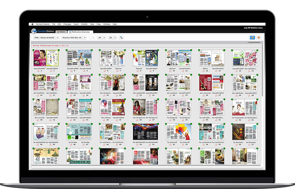 screenshot enterprise magazines workflow